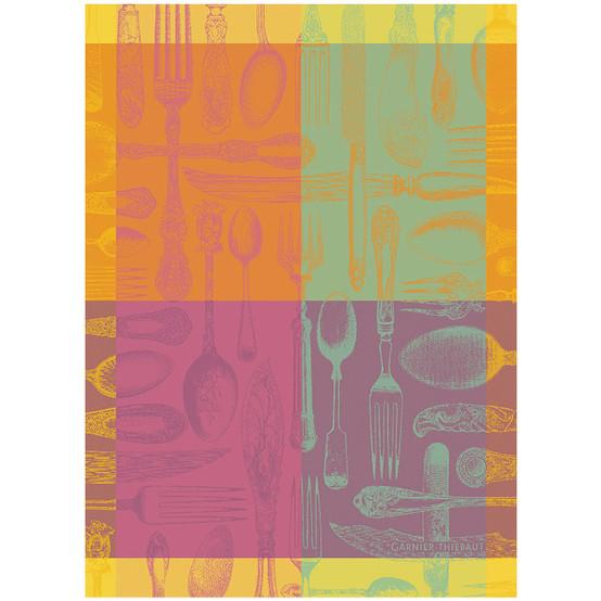 Couverts et Couleurs Orange Kitchen Towel