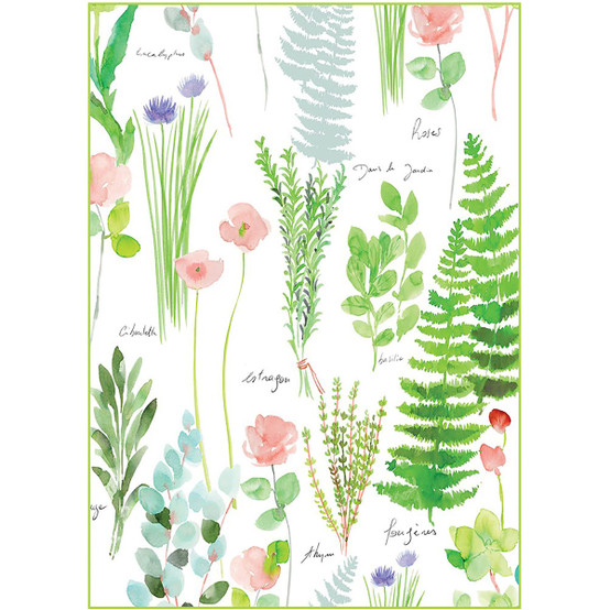 Mille Herbier Printemps Kitchen Towel