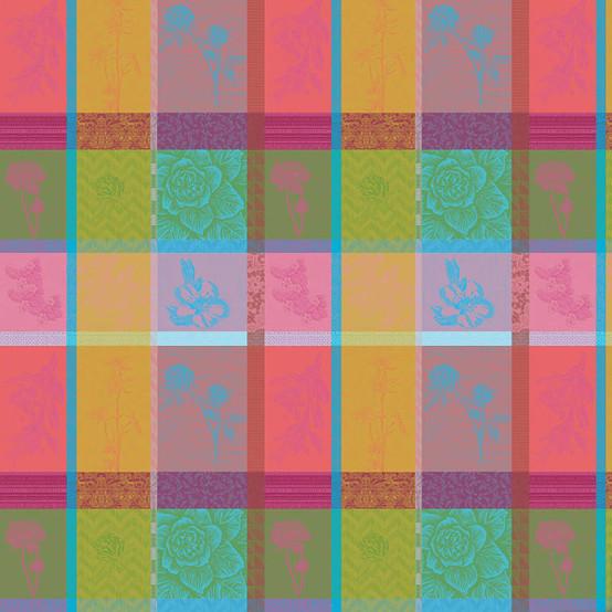 Mille Gardenias Bourgeons Coated Fabric (Price/Inch)