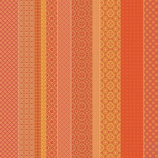 Mille Bastides Garance Coated Fabric (Price/Inch)