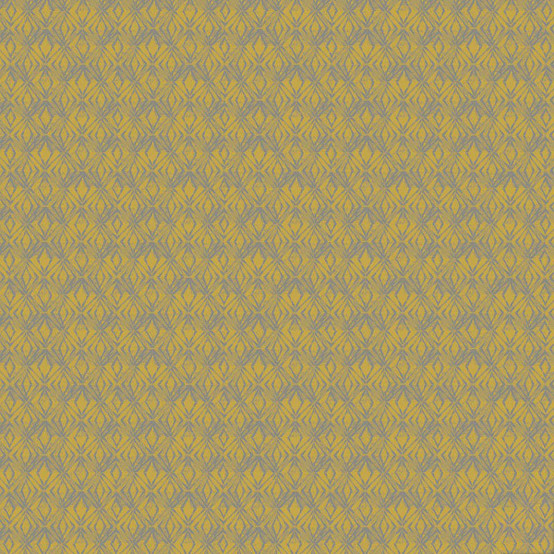 Mille Ikats Coated Fabric in Curry (Price/Inch)