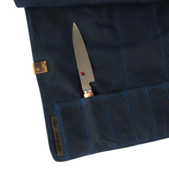 6 Pocket Knife Roll In Navy