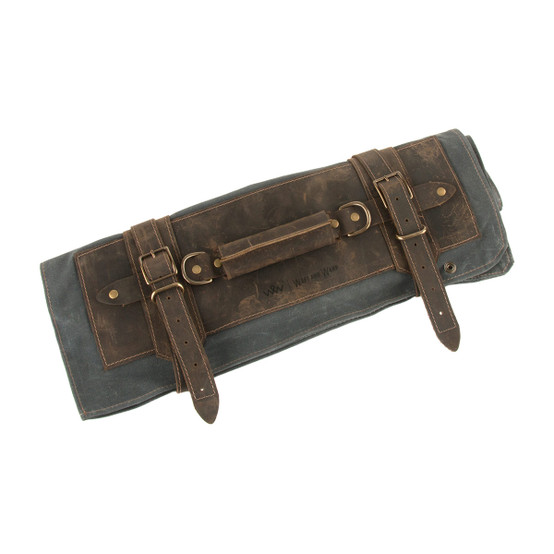 7 Pocket Knife Roll In Slate