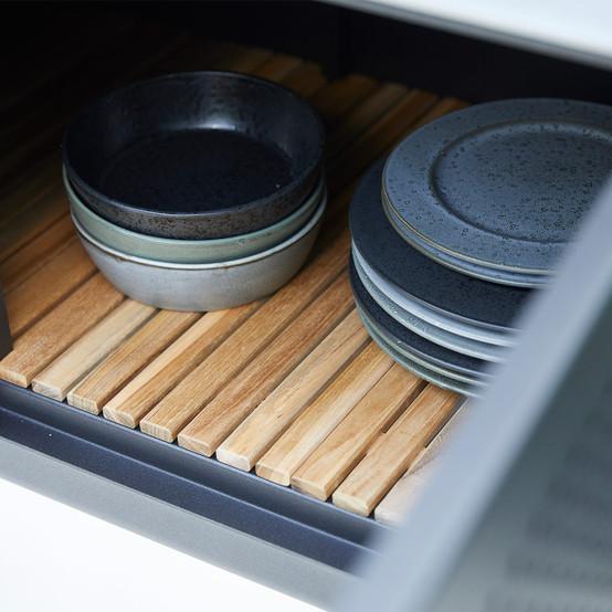 Drop Kitchen Module in Lava Grey