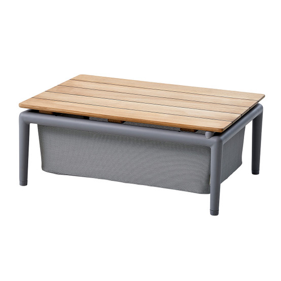 Conic Box Table in Light Grey