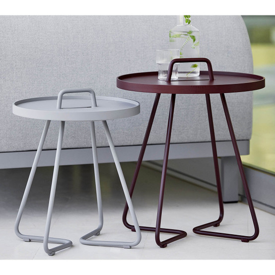 On-The-Move Small Side Table in Bordeaux