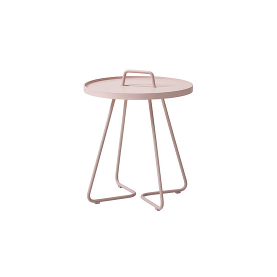 On-The-Move Small Side Table in Dusty Rose
