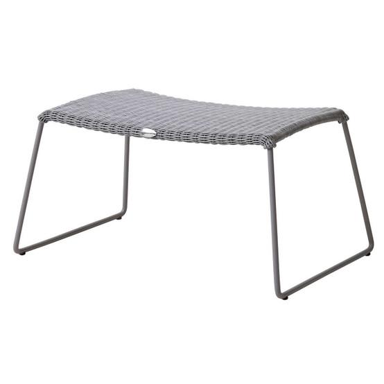 Breeze Footstool in Light Grey