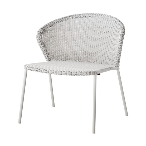 Lean Lounge Chair in White Grey