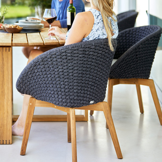 Peacock Dining Chair in Dark Grey