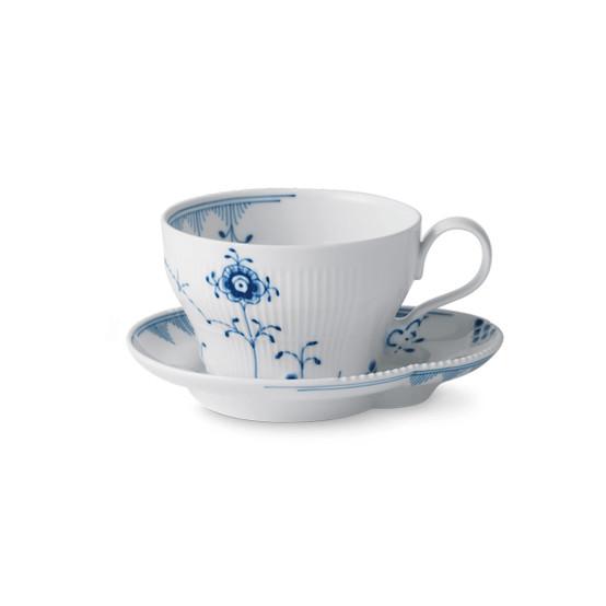 Blue Elements Teacup & Saucer