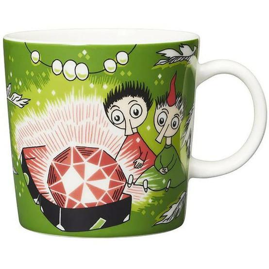 Thingumy and Bob Moomin Mug in Green