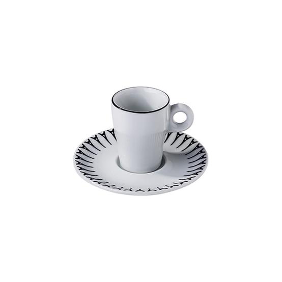 Ville De Paris Fluto Espresso Cup and Saucer in Black