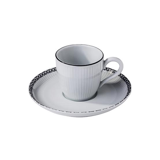 Ville De Paris Plisse Espresso Cup + Saucer