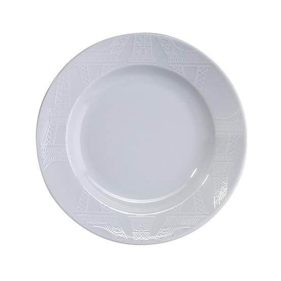 Ville De Paris Soup Plate in White