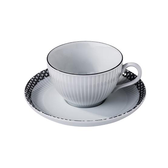 Ville De Paris Plisse Tea Cup + Saucer