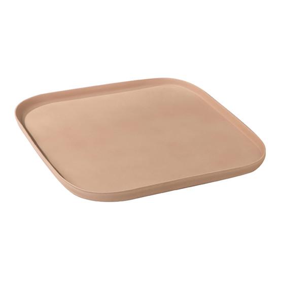 Gaia 10.5 inch Square Plate in Kaolin