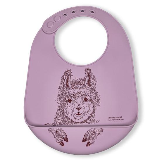 Bucket Bib : Llama in Lovely Lavender