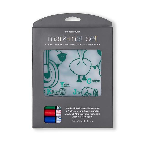 Mark-Mat Set: Farm Buddies + 3 Markers