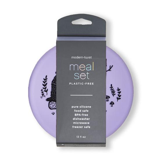 Meal Set Badger Family in Lavender