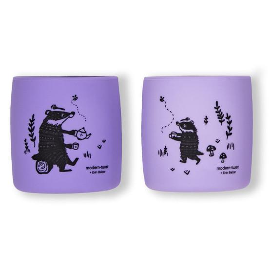 Sip Set : Badger Family in Lavender