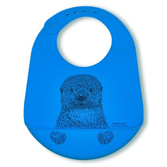 Bucket Bib : Otter in Sea Blue