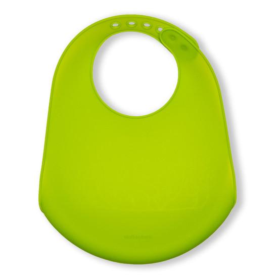 Bucket Bib : Foxes in Lime Green