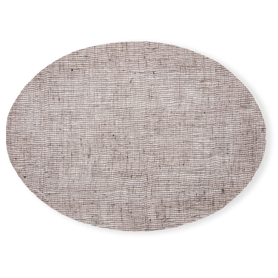Oval Placemat in Chocolate Linen