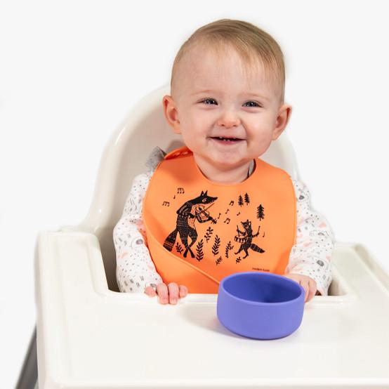 Bucket Bib : Fox Family in Melon