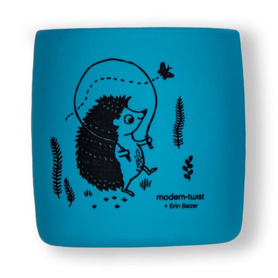 Sip Set : Hedgehog Family in Blue