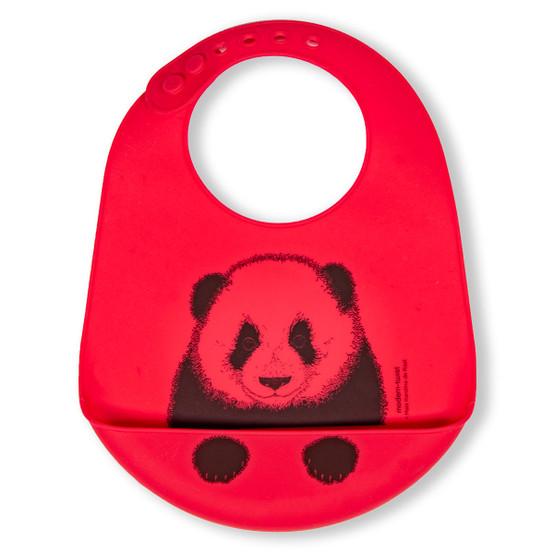 Bucket Bib : Panda in Lucky Red