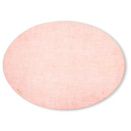 Oval Placemat in Blush Linen