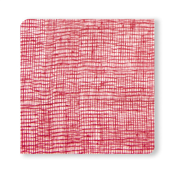 Coasters in Cranberry Linen