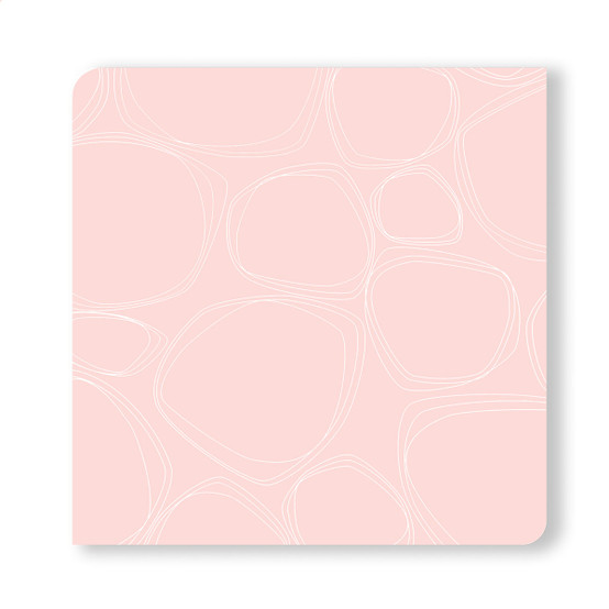 Coasters in Blush Pebbles