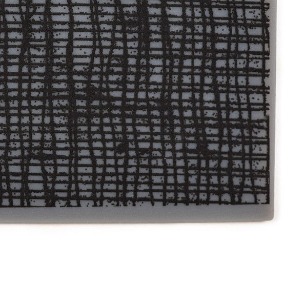 Coasters in Black Linen