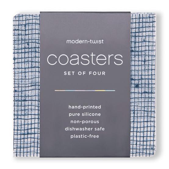 Coasters in Denim Linen