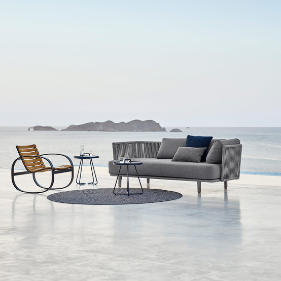 Moments 3 Seater Sofa with Outdoor Cushion in Grey