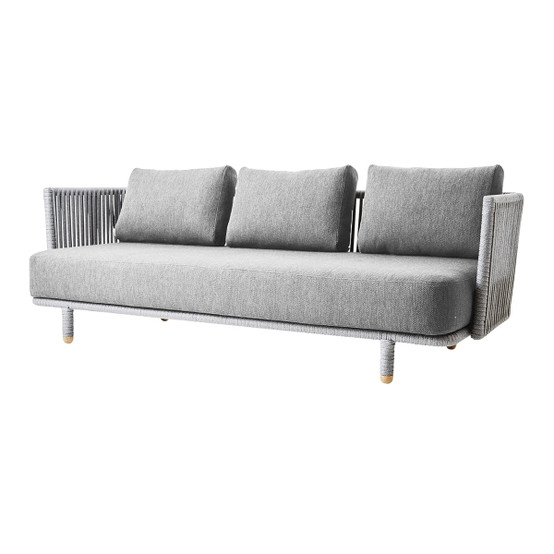 Moments 3 Seater Sofa with Indoor Cushion in Light Grey