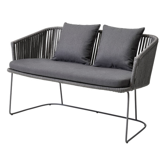 Moments Dining Bench in Grey with Grey Cushion