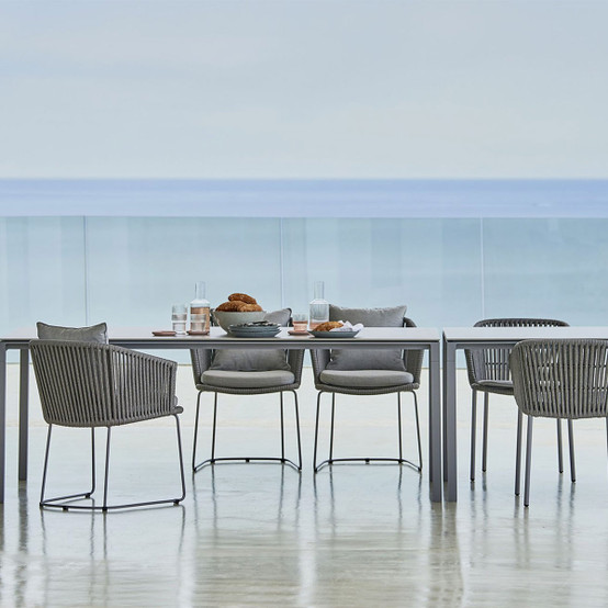 Pure 78.5 Inch Dining Table in Light Grey