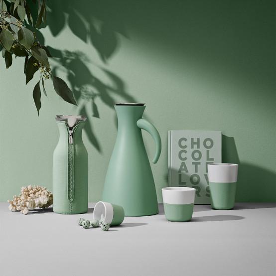 Fridge Carafe with cover in Woven Eucalyptus Green