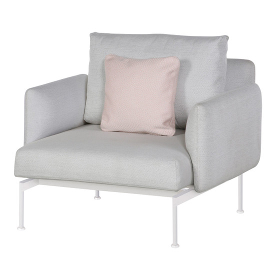 Layout Single Seat Armchair with Low Arms