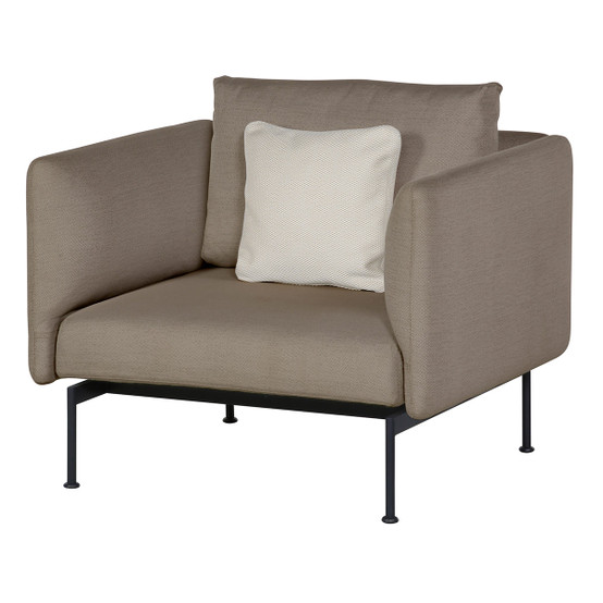 Layout Single Seat Armchair with High Arms