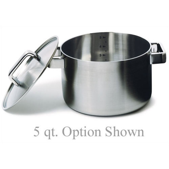 Tools Stainless Steel Casseroles w/Lid - Five Sizes