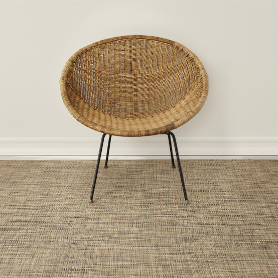 Basketweave Floor Mat in Bark
