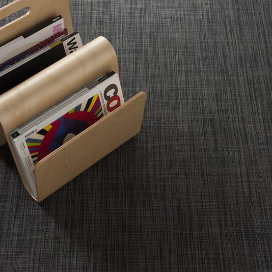 Ikat Floor Mat in Deep Grey