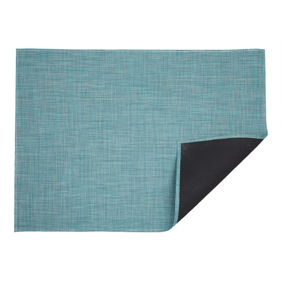 Chilewich Mini Basketweave Floor Mat In Turquoise