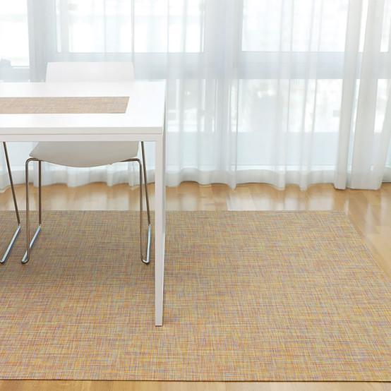 Mini Basketweave Floor Mat in Confetti