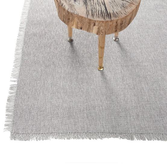 Market Fringe Woven Floor Mat in Quartz