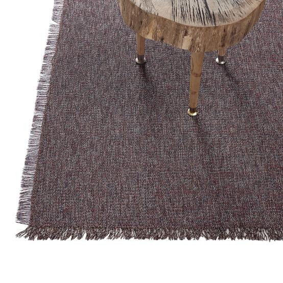 Market Fringe Floor Mat in Sangria